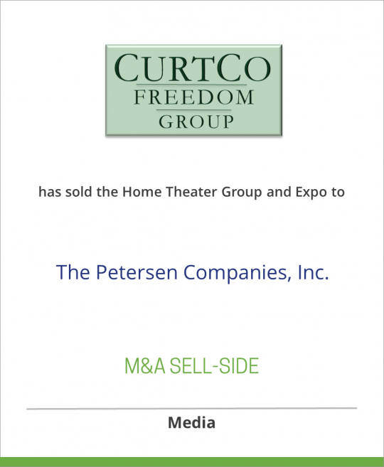 CurtCo Freedom Group has sold the Home Theater Group and Expo to The Petersen Companies, Inc.