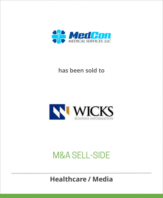 Medical Education Consultants Inc. has been sold to Wicks Medical Information LLC