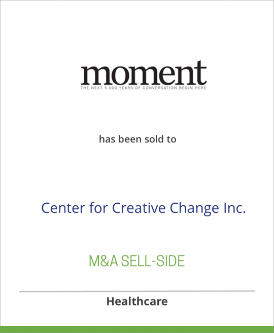 Moment has been sold to Center for Creative Change Inc.