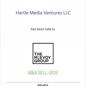 Hartle Media Ventures LLC has has sold an equity stake to The McEvoy Group