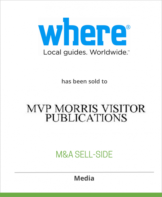 ABARTA Media Group has sold WHERE Magazine to Morris Visitors Publications LLC
