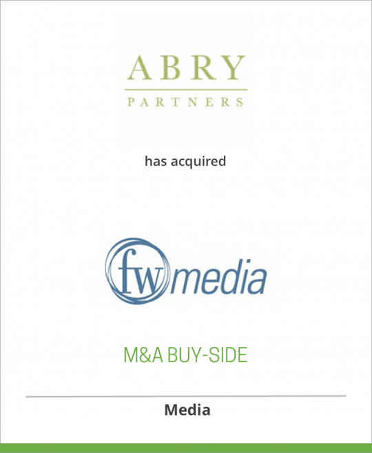 ABRY Partners has acquired F+W Publications