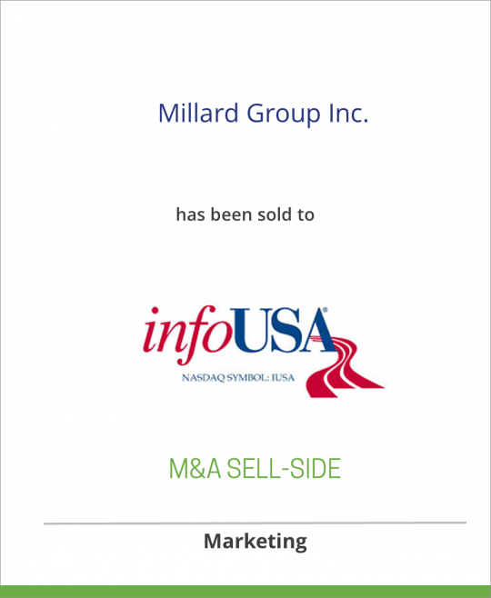 Millard Group Inc. has been sold to infoUSA
