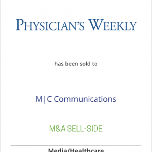 Physician's Weekly has been sold to M|C Communications