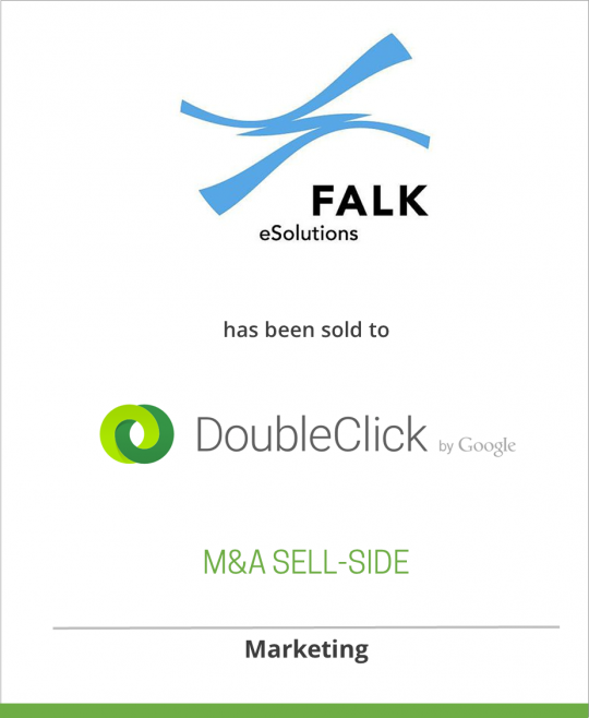 Falk eSolutions AG has been sold to DoubleClick Inc.
