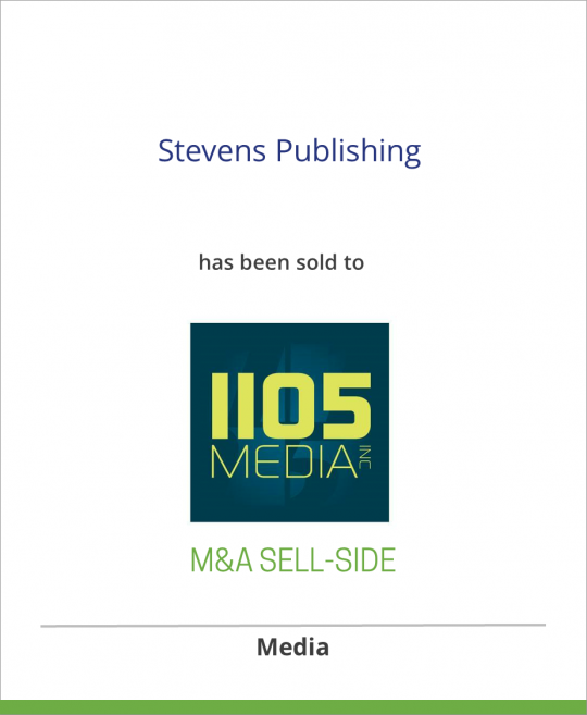 Stevens Publishing has been sold to 1105 Media