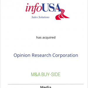 infoUSA has acquired Opinion Research Corporation
