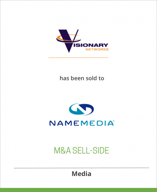 Visionary Networks has been sold to NameMedia