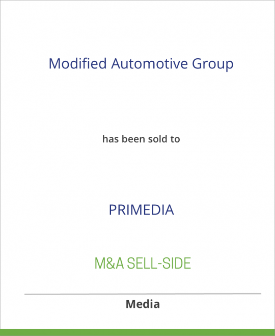 Modified Automotive Group has been sold to PRIMEDIA