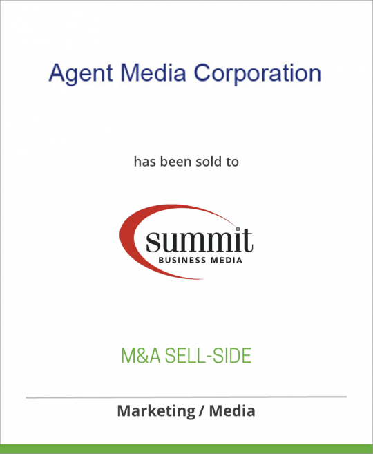 Agent Media Corporation has been sold to Summit Business Media
