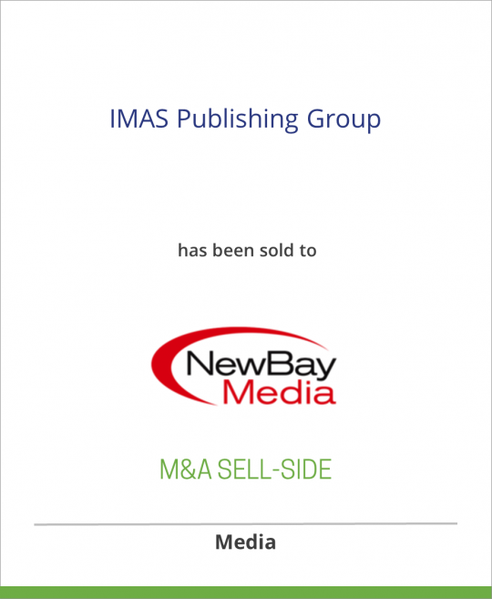 IMAS Publishing Group has been sold to NewBay Media