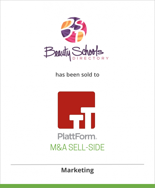 Beauty Schools Directory has been sold to PlattForm Holdings
