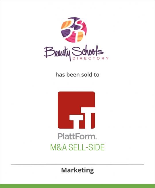 Beauty Schools Directory has been sold to PlattForm Holdings
