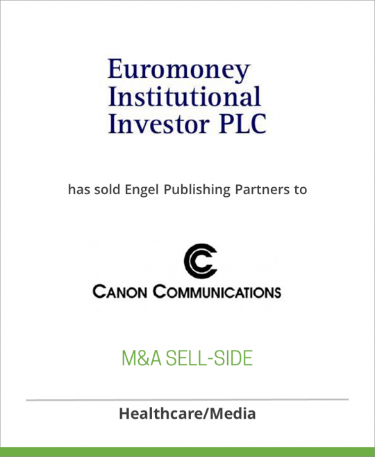 Engel Publishing Partners has been sold to Canon Communications