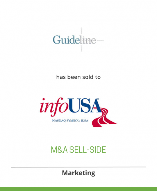 Guideline has been sold to infoUSA