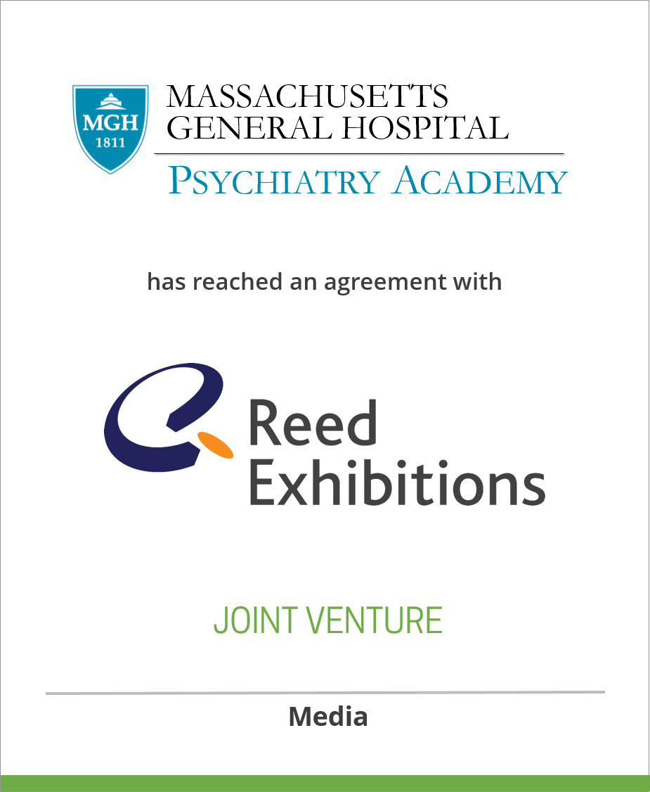 Massachusetts General Hospital Psychiatry Academy reached joint venture with Reed Exhibitions