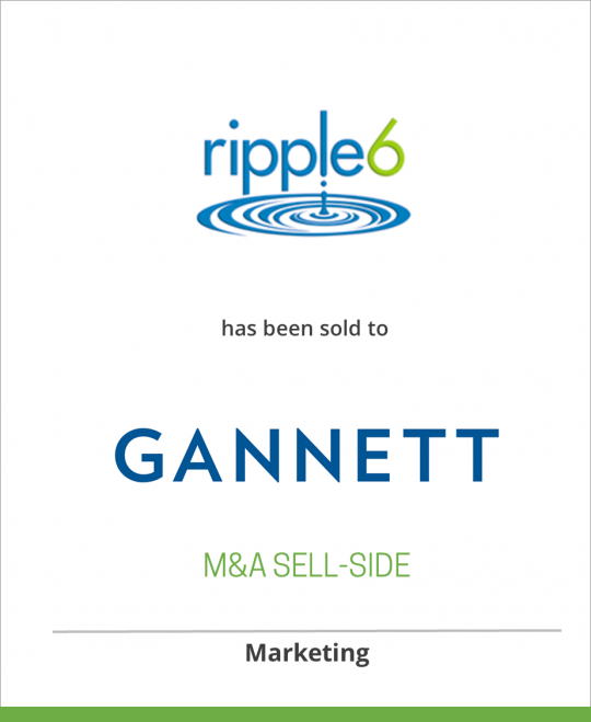 Ripple6 Inc. has been sold to Gannett Co.
