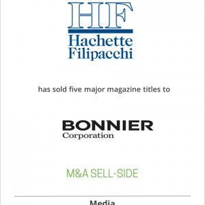Hachette Filipacchi Media has sold five major magazine titles to Bonnier Corp