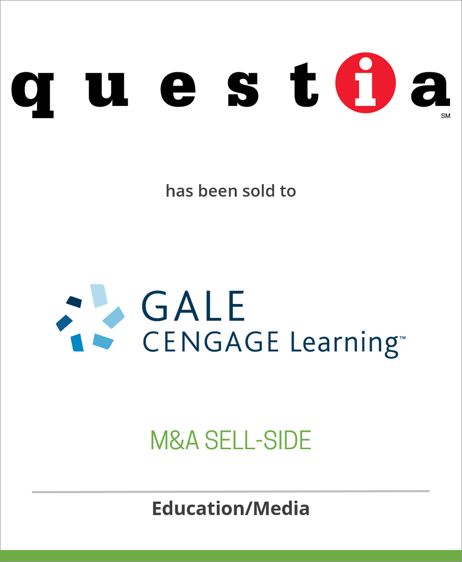 Questia Media, Inc. has been sold to Gale