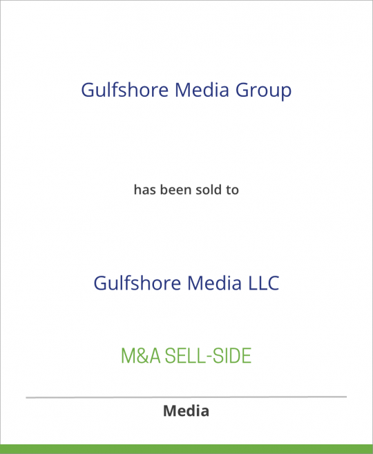 CurtCo Publishing LLC has sold Gulfshore Media Group to Gulfshore Media LLC