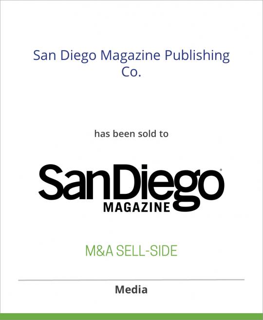 CurtCo Publishing LLC has sold San Diego Magazine Publishing Co. to San Diego Magazine LLC