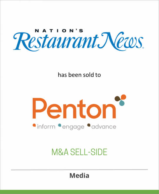 Lebhar-Friedman Inc. has sold Nation's Restaurant News to Penton Media