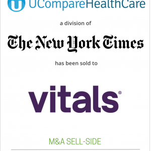 The New York Times Company has sold UCompareHealthCare.com to MDxMedical, Inc. (Vitals.com)
