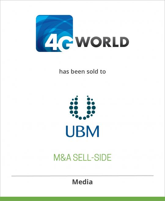 Yankee Group has sold 4G World to UBM TechWeb