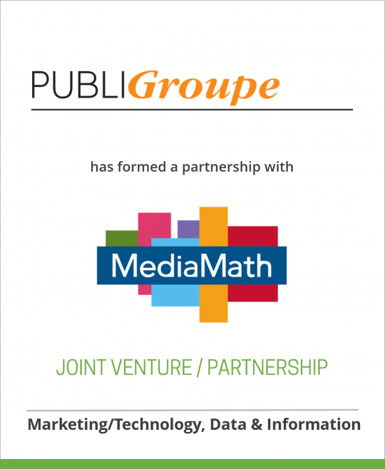 PubliGroupe and MediaMath have formed the joint-venture company, Spree 7