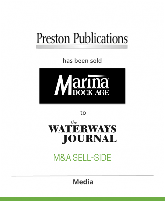 Preston Publications has sold Marina Dock Age to The Waterways Journal, Inc.
