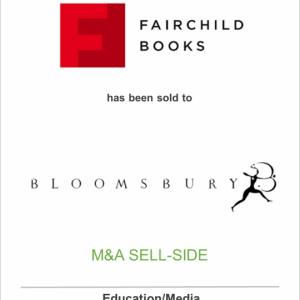 Fairchild Fashion Media, a unit of Conde Nast, has sold Fairchild Books to Bloomsbury Publishing plc
