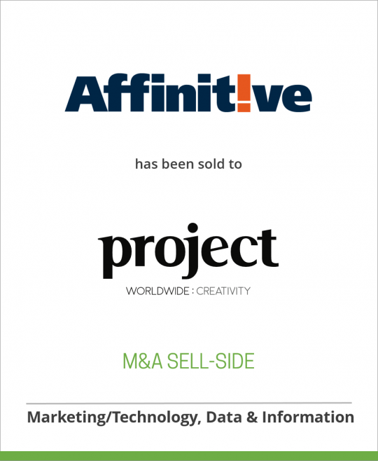 Affinitive has been sold to Project: WorldWide