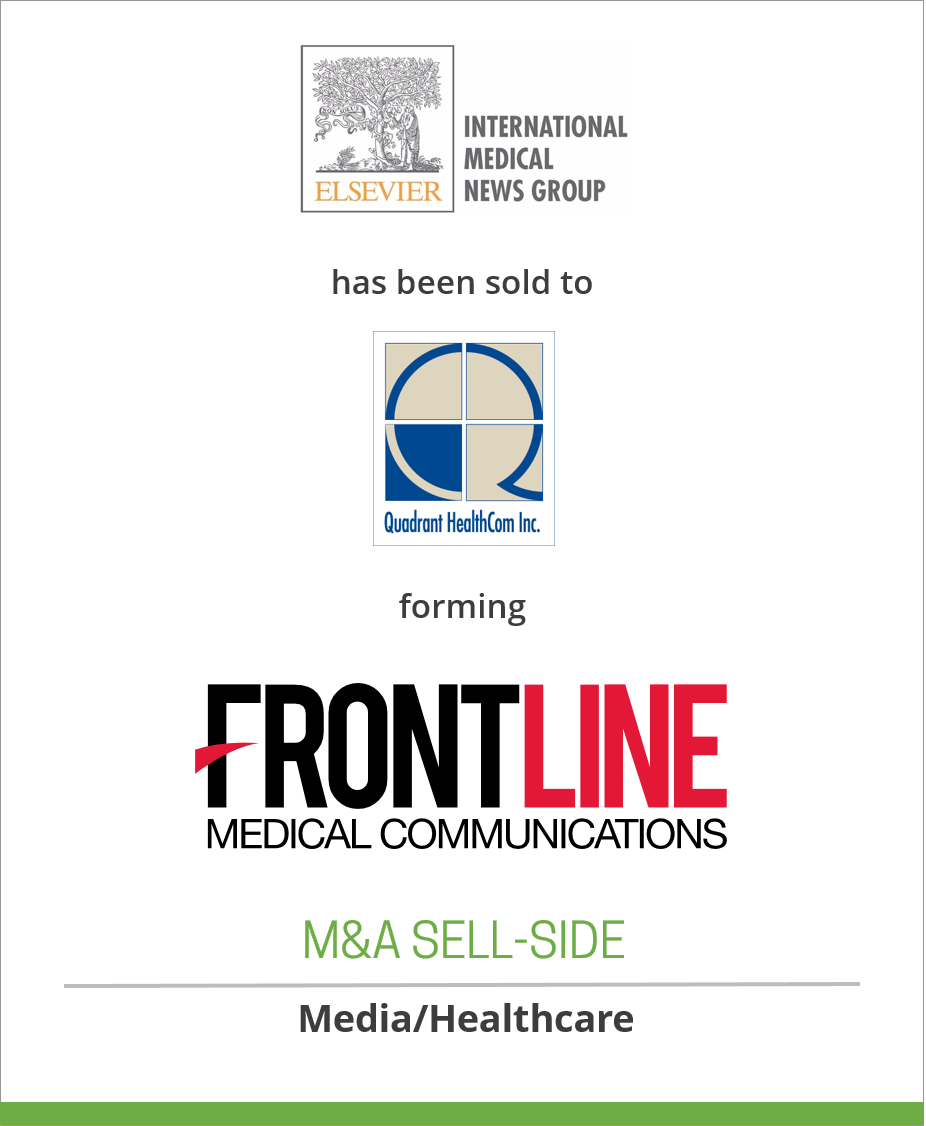 Elsevier, Inc. has sold International Medical News Group (IMNG) to Quadrant HealthCom Inc. forming FrontLine Medical Communications