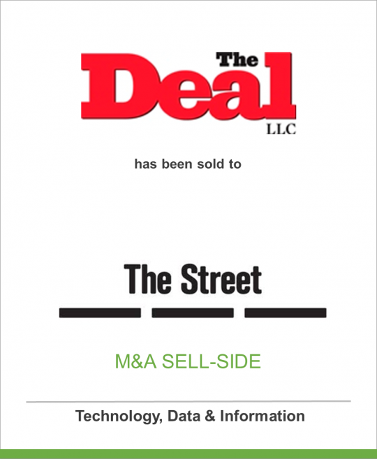 The Deal LLC has been sold to The Street