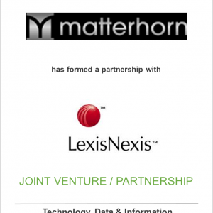 Matterhorn Transactions, Inc. has partnered with LexisNexis Legal & Professional