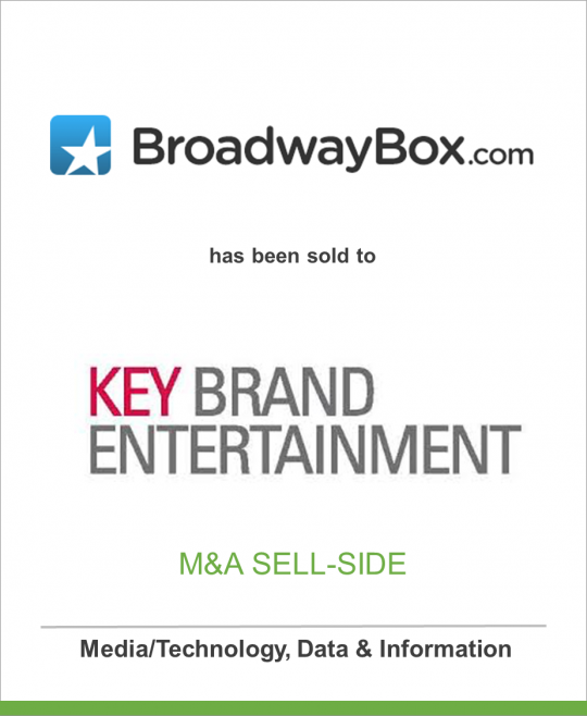 BroadwayBox.com has been sold to Key Brand Entertainment