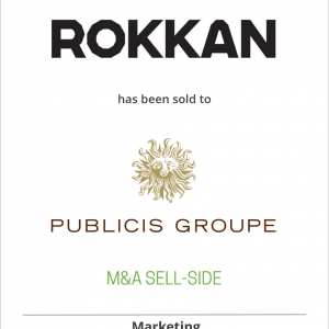 ROKKAN has been sold to Publicis Groupe