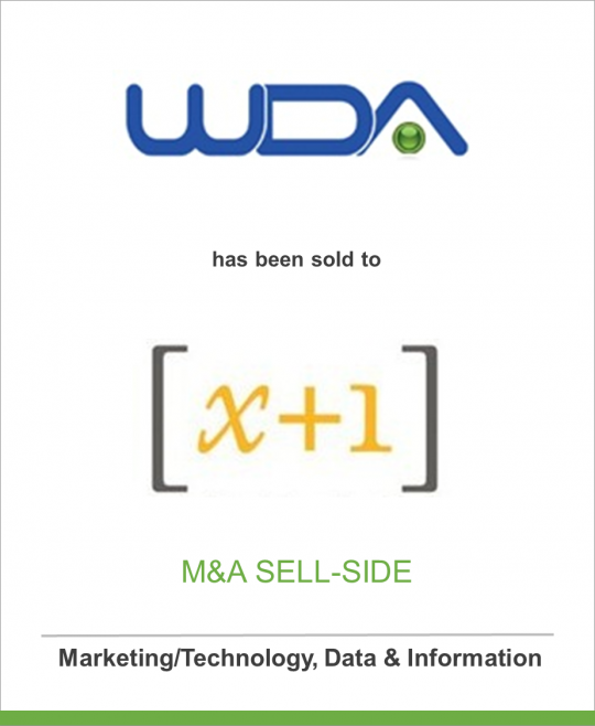 Wireless Developer Agency (WDA) has been sold to [x+1]