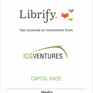 Librify, Inc. has received an investment from ICG Ventures, Inc., an Ingram Content Group company.