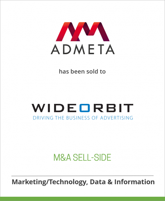 Admeta has been sold to WideOrbit