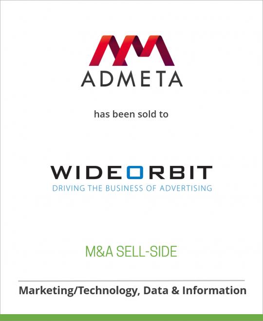 Admeta has been sold to WideOrbit