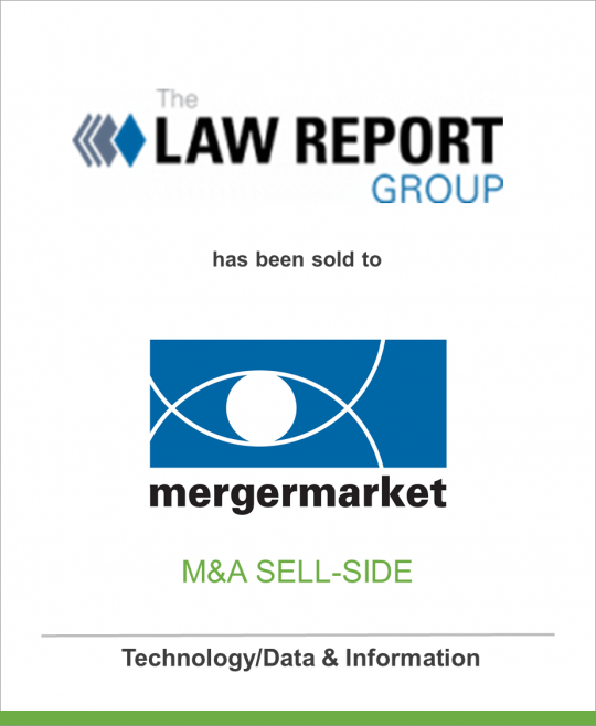 The Law Report Group has been sold to Mergermarket Group
