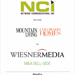 Network Communications Inc. has sold Colorado Homes & Lifestyles and Mountain Living to WiesnerMedia