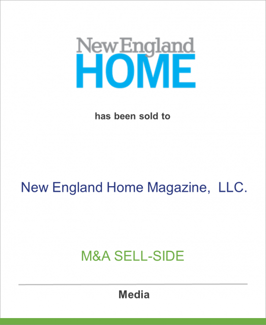 Network Communications, Inc. has sold New England Home and related properties to New England Home Magazine, LLC.