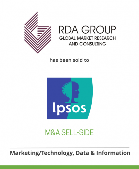 RDA Group has been sold to Ipsos