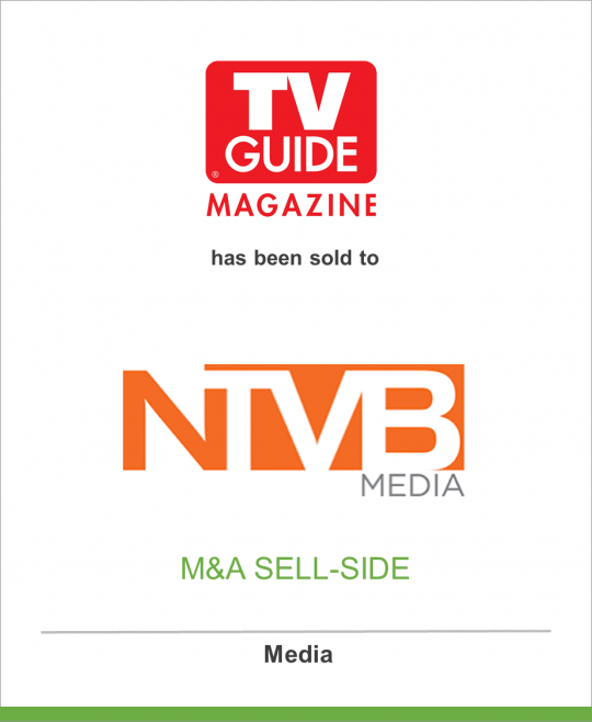OpenGate Capital has sold TV Guide Magazine and its digital platform, TV Insider to NTVB Media