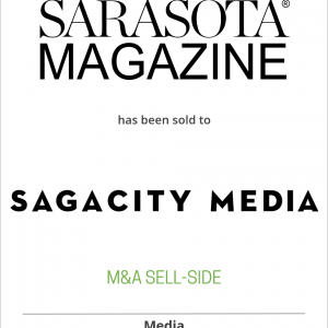Sarasota Magazine has been sold to SagaCity Media