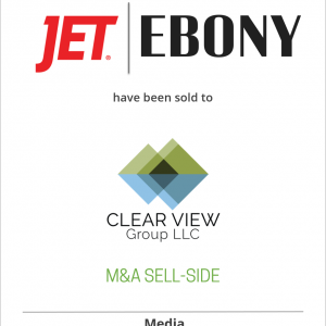 Johnson Publishing Company has sold EBONY Magazine, EBONY.com, and JetMag.com to Clear View Group, LLC.