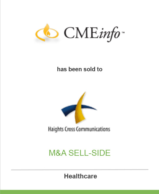 CMEInfo.com has been sold to Haights Cross Communications