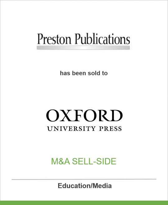 Preston Publications has sold two leading medical publications to Oxford University Press